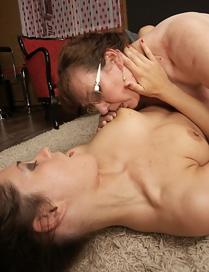 Horny old and young lesbians making it wild