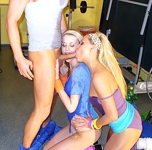Big group of horny girls and fellows love peeing on clothes