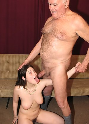 grandpa is being fucked by his niece